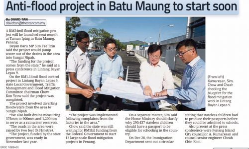 Anti-flood Project in Batu Maung