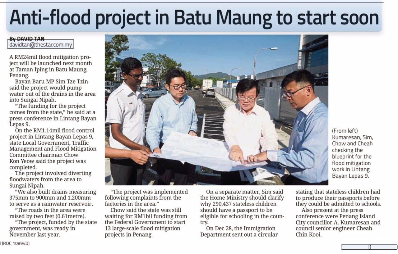 Anti-flood Project in Batu Maung