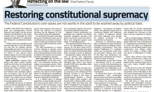 Restoring Constitutional Supremacy